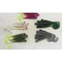 "Variety Pack - 3.75"" Dropshot Curly Tail Minnow"
